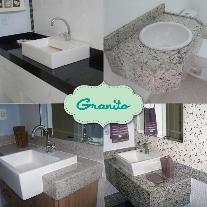 Tipos de bancadas para banheiro  Comprando Meu Apê  Comprando Meu Apê -> Armario De Banheiro Com Pedra De Granito