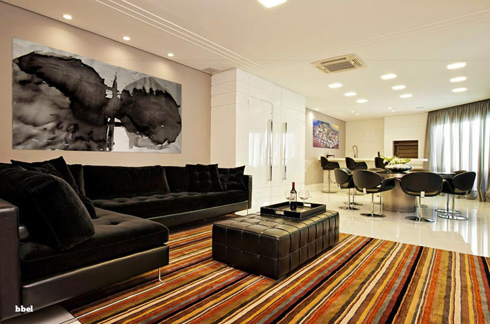 Decorar Sala De Tv E Jantar ~ sala de tv e o quadro na sala de jantar